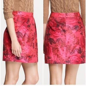 J.Crew Magenta Floral Mini Skirt